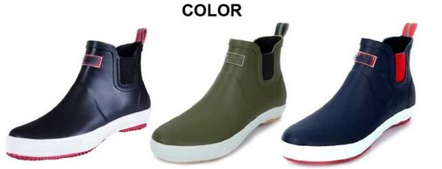 fashion rubber rain shoes for men with elasticted gusset