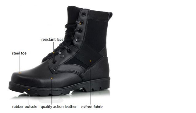 5f28d67e298 Police Boots with steel toe for work - Hozeal Shoes